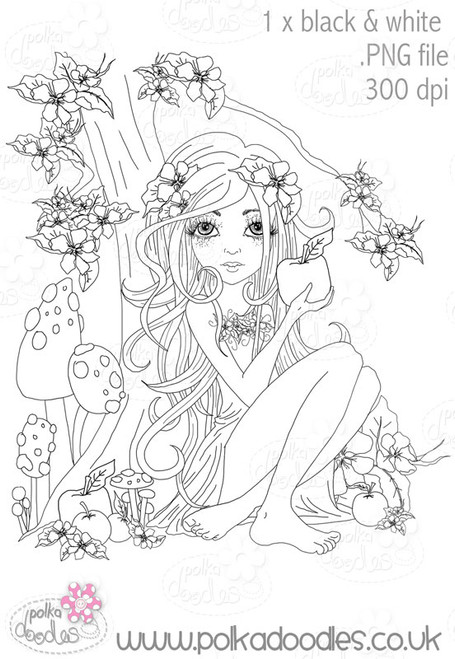 Snow White - Black/white Digital Craft Stamp download