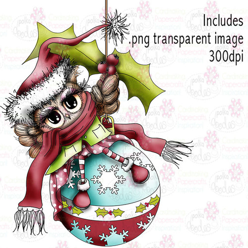 Bauble wishes - Twiggy & Toots - Digital Craft Stamp Download