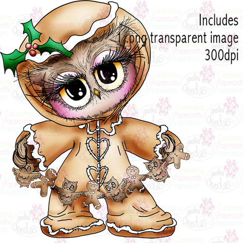 Gingerbread Onesie - Twiggy & Toots - Digital Craft Stamp Download