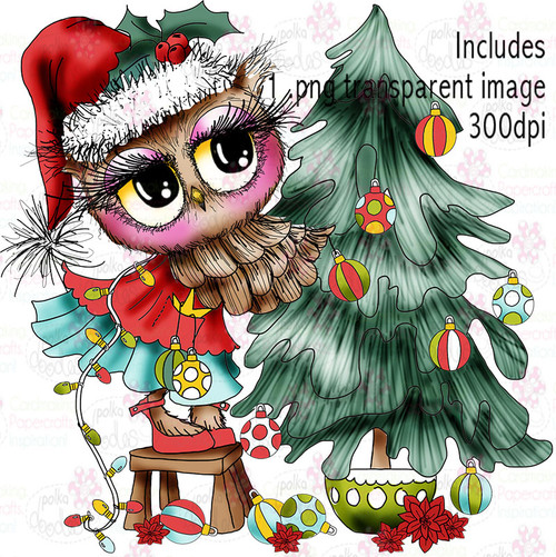 Christmas Trimmings - Twiggy & Toots - Digital Craft Stamp Download