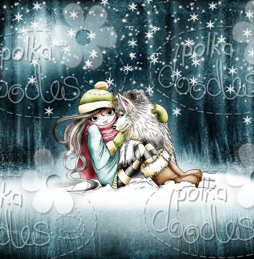 Husky Hugs - Octavia Frosted Winter - Digital STAMP CRAFT Download