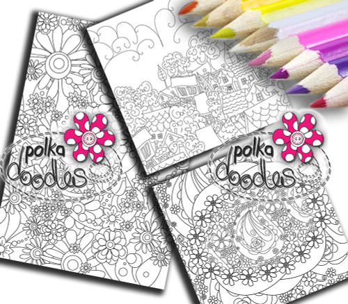Adult Colouring pages bundle 1 - Downloadable Adult printable Colouring Book Pages
