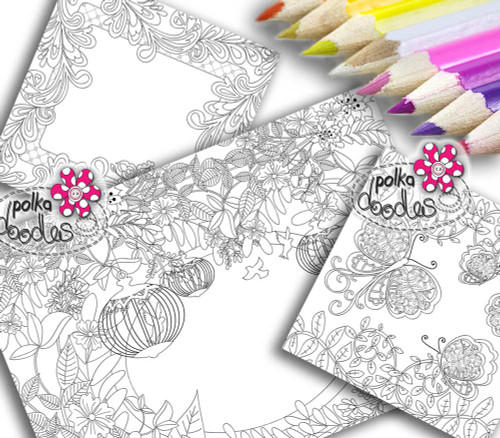Adult Colouring pages bundle 11 - Downloadable Adult printable Colouring Book Pages