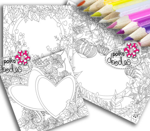 Adult Colouring pages bundle 20 - Downloadable Adult printable Colouring Book Pages