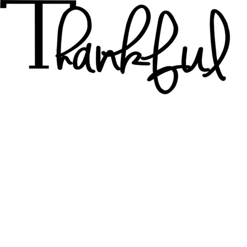 Thankful - Sentiment download printable