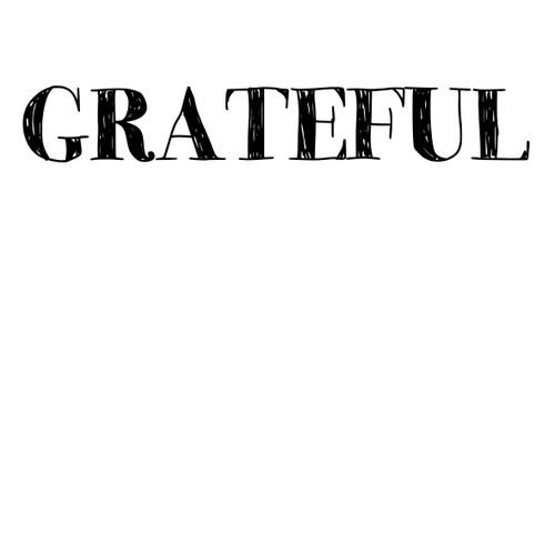Grateful - Sentiment download printable
