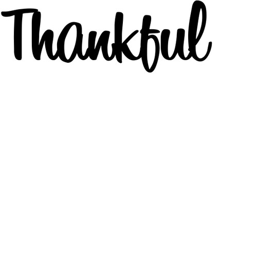 Thankful - Sentiment download printable digital stamp