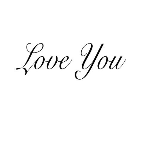 Love You - Sentiment download printable digital stamp