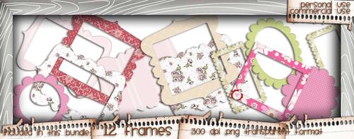 Love/Romance Love & Kisses Frames bundle - download printable digital stamp