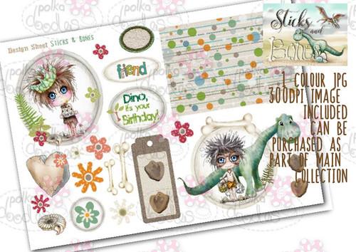 Sticks & Bones - Design Sheet 1 - Digital CRAFT Download