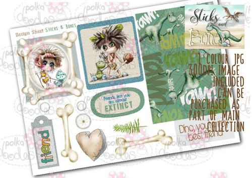 Sticks & Bones - Design Sheet 2  - Digital CRAFT Download