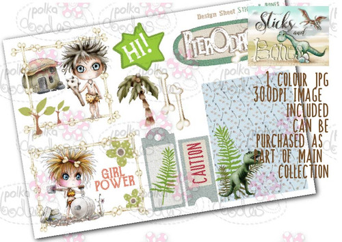 Sticks & Bones - Design Sheet 6  - Digital CRAFT Download