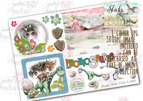 Sticks & Bones - Design Sheet 7  - Digital CRAFT Download