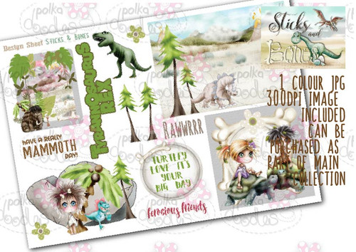Sticks & Bones - Design Sheet 8  - Digital CRAFT Download