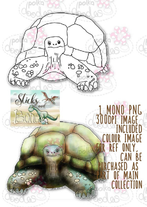 Sticks & Bones - Tortoise Dinosaur  - Digital Stamp CRAFT Download
