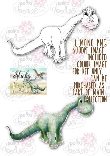 Sticks & Bones - Brontosaurus Dinosaur - Digital Stamp CRAFT Download