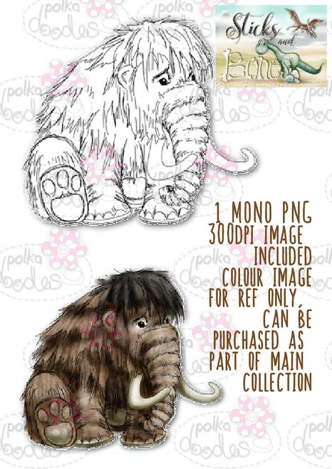 Sticks & Bones - Mammoth Dinosaur  - Digital Stamp CRAFT Download