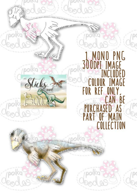 Sticks & Bones - Dinosaur 3 - Digital Stamp CRAFT Download