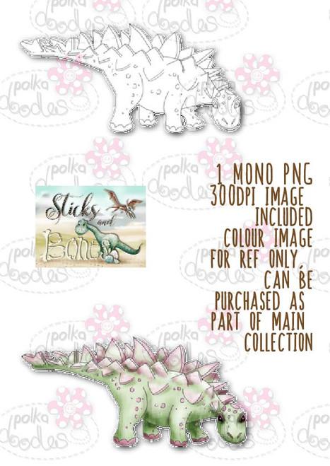 Sticks & Bones - Dinosaur 4 - Digital Stamp CRAFT Download