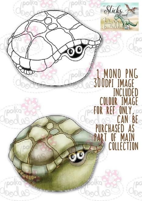 Sticks & Bones - Dinosaur Tortoise 2 - Digital Stamp CRAFT Download