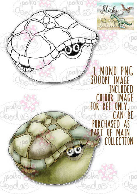 Sticks & Bones - Dinosaur Tortoise 2 - Digital Stamp CRAFT Download