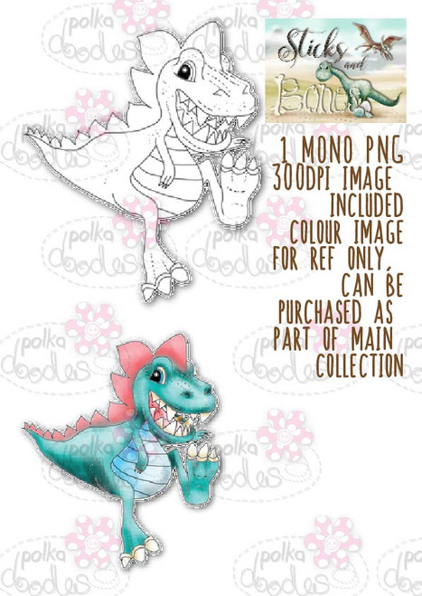 Sticks & Bones - Dinosaur 6 - Digital Stamp CRAFT Download