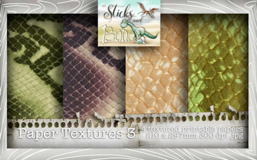 Sticks & Bones - Textured Papers 3 (4 papers A4) - Digital Stamp CRAFT Download