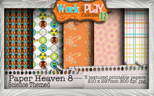Work & Play 12 Paper Heaven8 bundle kit - science/geek (5 papers)