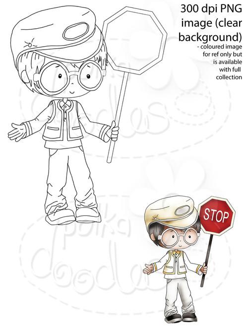 Lollipop Man, School Crossing Patrol/Security Guard Digital Stamp