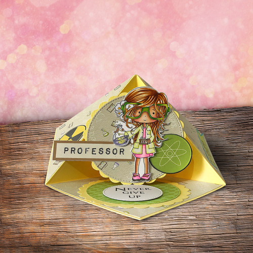 Girl Science/Maths/Teacher/Professor/Geek/Student/Chemisty Digital Stamp