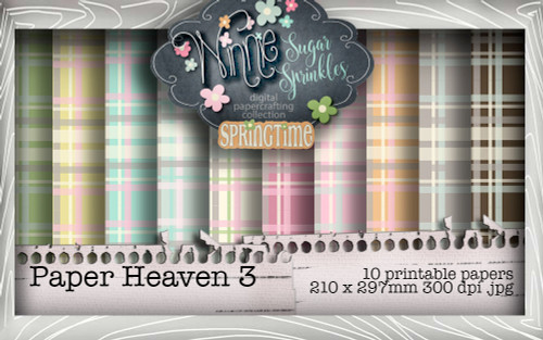 Winnie Sugar Sprinkles Paper Heaven 3 Bundle - Printable Crafting Digital Stamp Craft Scrapbooking Download