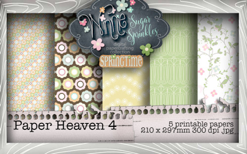 Winnie Sugar Sprinkles Paper Heaven 4 Bundle - Printable Crafting Digital Stamp Craft Scrapbooking Download