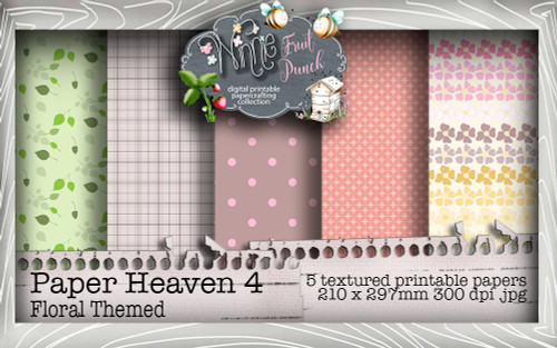 Winnie Fruit Punch Paper Heaven 4 Bundle - Printable Crafting Digital Stamp Craft Scrapbooking Download