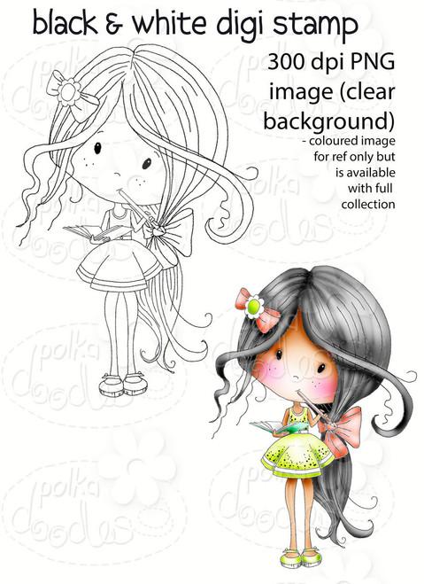 Make A list- Winnie Fruit Punch Printable Digital Craft Stamp Download, digiscrap