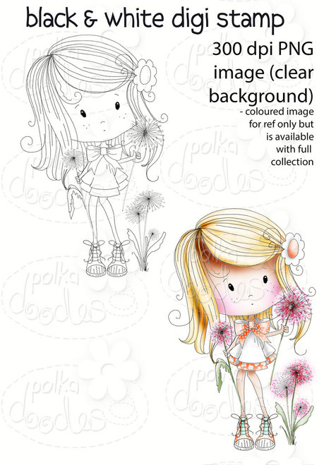 Dandelion Days - Winnie Fruit Punch Printable Digital Craft Stamp Download