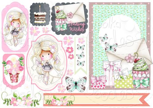 Wish - Winnie Fruit Punch Printable Digital Craft Stamp Download, digiscrap