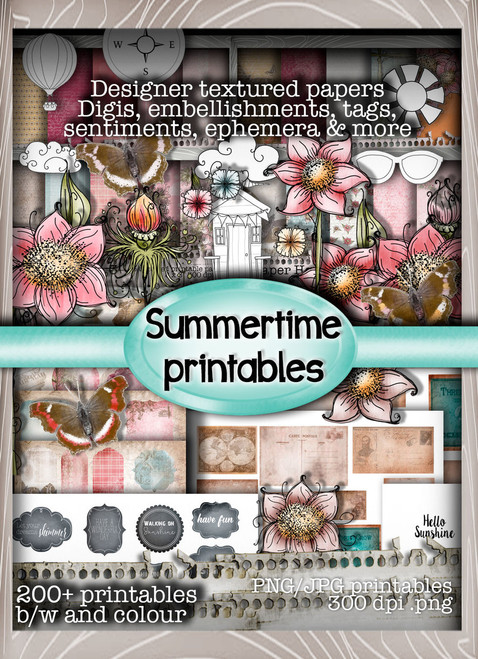Summertime -  Downloadable Stamp ME  Printables