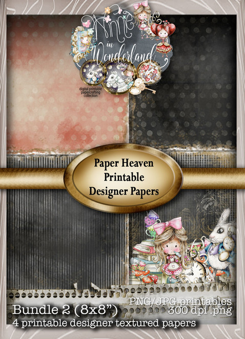 Winnie Wonderland Paper Heaven 2 - Printable Digital download