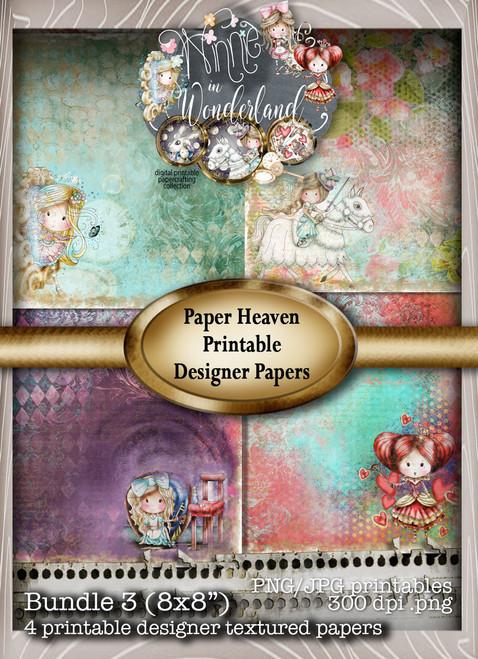 Winnie Wonderland Paper Heaven 3 - Printable Digital download