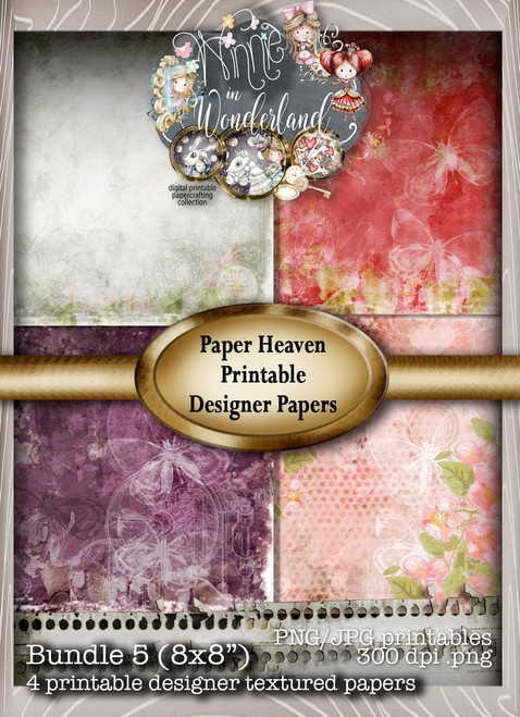 Winnie Wonderland Paper Heaven 5 - Printable Digital download