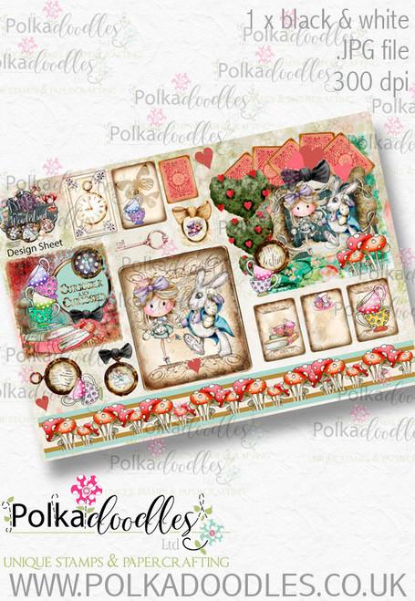 Winnie Wonderland Design Sheet 9 - Printable Digital download
