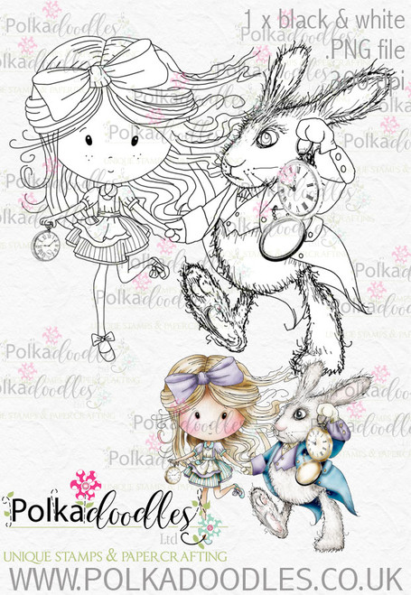 Winnie Wonderland Let's Hurry - Printable Digital stamp download