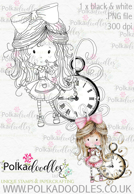 Winnie Wonderland Time will Tell - Printable Digital stamp download