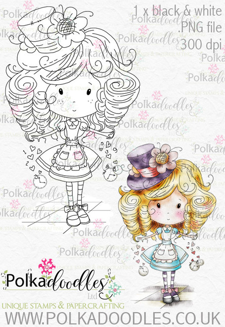 Winnie Wonderland - Printable Digital stamp download