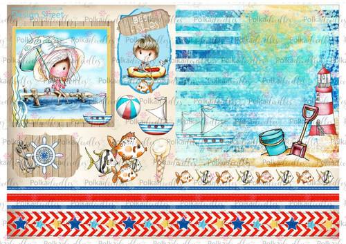 Winnie Starfish/Sandcastles Design Sheet 10 DOWNLOAD