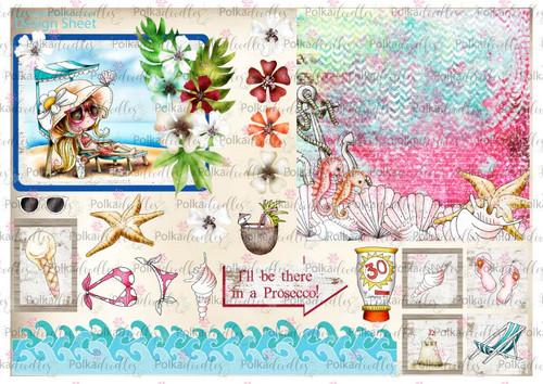 Winnie Starfish/Sandcastles Design Sheet 7 DOWNLOAD