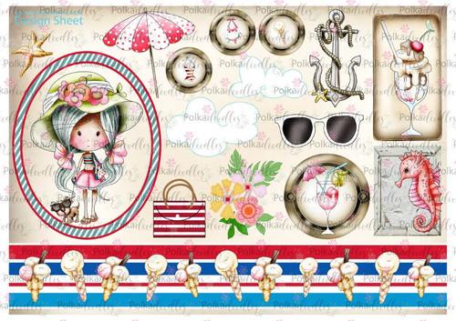 Winnie Starfish/Sandcastles Design Sheet 6 DOWNLOAD