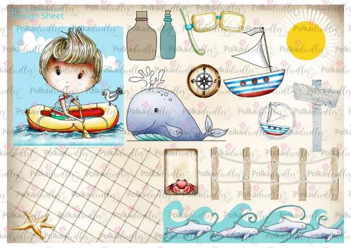 Winnie Starfish/Sandcastles Design Sheet 5 DOWNLOAD
