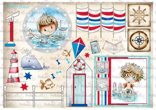 Winnie Starfish/Sandcastles Design Sheet 4 DOWNLOAD