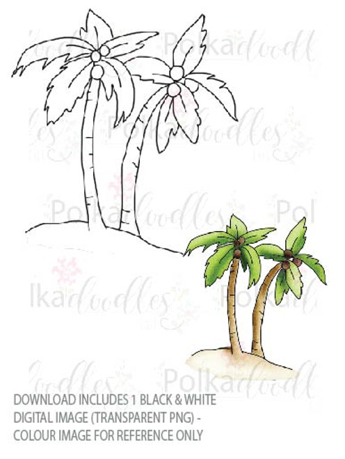 Winnie Starfish/Sandcastles - Tropical Palm Trees DOWNLOAD